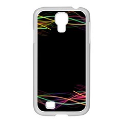 Colorful Light Frame Line Samsung Galaxy S4 I9500/ I9505 Case (white) by Alisyart