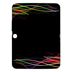 Colorful Light Frame Line Samsung Galaxy Tab 3 (10 1 ) P5200 Hardshell Case  by Alisyart