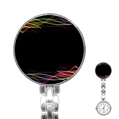 Colorful Light Frame Line Stainless Steel Nurses Watch by Alisyart