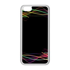 Colorful Light Frame Line Apple Iphone 5c Seamless Case (white)