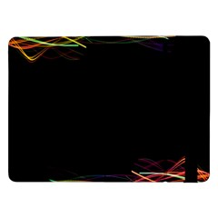 Colorful Light Frame Line Samsung Galaxy Tab Pro 12 2  Flip Case by Alisyart