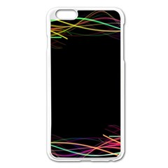 Colorful Light Frame Line Apple Iphone 6 Plus/6s Plus Enamel White Case by Alisyart