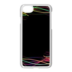 Colorful Light Frame Line Apple Iphone 7 Seamless Case (white)