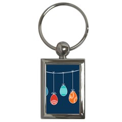 Easter Egg Balloon Pink Blue Red Orange Key Chains (rectangle)  by Alisyart