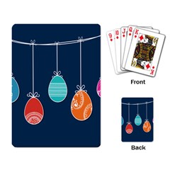 Easter Egg Balloon Pink Blue Red Orange Playing Card by Alisyart