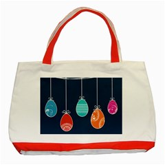 Easter Egg Balloon Pink Blue Red Orange Classic Tote Bag (red) by Alisyart
