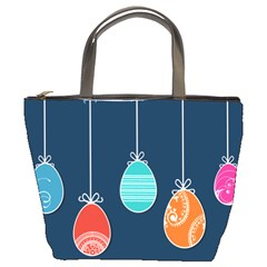 Easter Egg Balloon Pink Blue Red Orange Bucket Bags by Alisyart