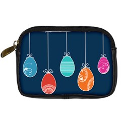 Easter Egg Balloon Pink Blue Red Orange Digital Camera Cases by Alisyart