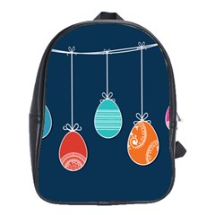 Easter Egg Balloon Pink Blue Red Orange School Bags(large)