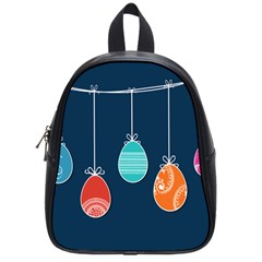 Easter Egg Balloon Pink Blue Red Orange School Bags (small)  by Alisyart