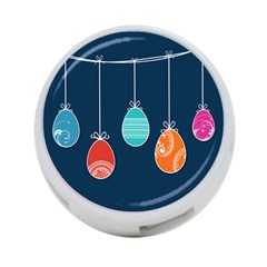 Easter Egg Balloon Pink Blue Red Orange 4 Port Usb Hub (one Side) by Alisyart