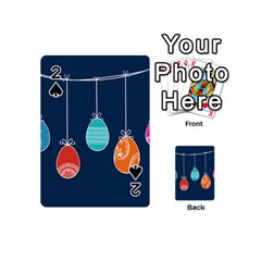 Easter Egg Balloon Pink Blue Red Orange Playing Cards 54 (mini)  by Alisyart