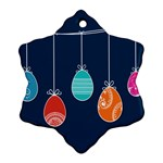 Easter Egg Balloon Pink Blue Red Orange Ornament (Snowflake) Front