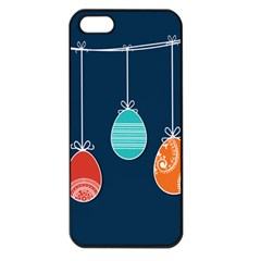 Easter Egg Balloon Pink Blue Red Orange Apple Iphone 5 Seamless Case (black)