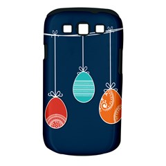 Easter Egg Balloon Pink Blue Red Orange Samsung Galaxy S Iii Classic Hardshell Case (pc+silicone) by Alisyart