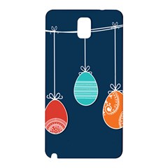 Easter Egg Balloon Pink Blue Red Orange Samsung Galaxy Note 3 N9005 Hardshell Back Case by Alisyart