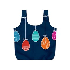 Easter Egg Balloon Pink Blue Red Orange Full Print Recycle Bags (s)  by Alisyart