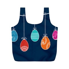 Easter Egg Balloon Pink Blue Red Orange Full Print Recycle Bags (m)