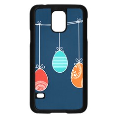 Easter Egg Balloon Pink Blue Red Orange Samsung Galaxy S5 Case (black) by Alisyart