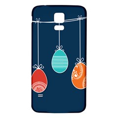 Easter Egg Balloon Pink Blue Red Orange Samsung Galaxy S5 Back Case (white) by Alisyart