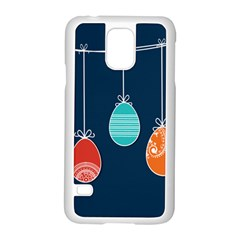 Easter Egg Balloon Pink Blue Red Orange Samsung Galaxy S5 Case (white)