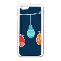 Easter Egg Balloon Pink Blue Red Orange Apple Iphone 6/6s White Enamel Case by Alisyart