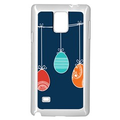 Easter Egg Balloon Pink Blue Red Orange Samsung Galaxy Note 4 Case (white) by Alisyart