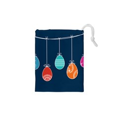 Easter Egg Balloon Pink Blue Red Orange Drawstring Pouches (xs)  by Alisyart