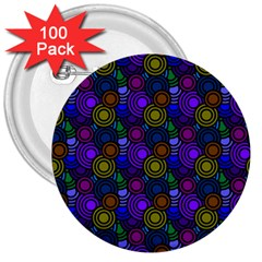 Circles Color Yellow Purple Blu Pink Orange 3  Buttons (100 Pack)  by Alisyart