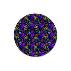 Circles Color Yellow Purple Blu Pink Orange Magnet 3  (round) by Alisyart