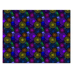 Circles Color Yellow Purple Blu Pink Orange Rectangular Jigsaw Puzzl by Alisyart