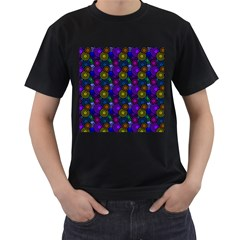 Circles Color Yellow Purple Blu Pink Orange Men s T Shirt (black) (two Sided) by Alisyart