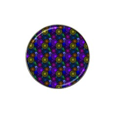 Circles Color Yellow Purple Blu Pink Orange Hat Clip Ball Marker (4 Pack)