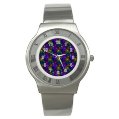 Circles Color Yellow Purple Blu Pink Orange Stainless Steel Watch by Alisyart