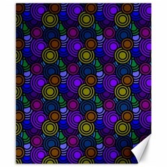 Circles Color Yellow Purple Blu Pink Orange Canvas 8  X 10  by Alisyart