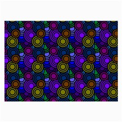Circles Color Yellow Purple Blu Pink Orange Large Glasses Cloth by Alisyart