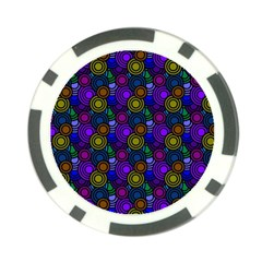 Circles Color Yellow Purple Blu Pink Orange Poker Chip Card Guard (10 Pack) by Alisyart