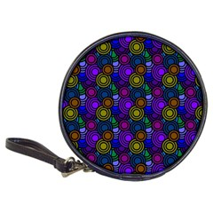 Circles Color Yellow Purple Blu Pink Orange Classic 20 Cd Wallets