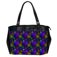 Circles Color Yellow Purple Blu Pink Orange Office Handbags (2 Sides)  by Alisyart