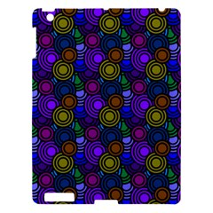 Circles Color Yellow Purple Blu Pink Orange Apple Ipad 3/4 Hardshell Case