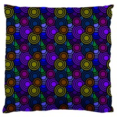 Circles Color Yellow Purple Blu Pink Orange Large Cushion Case (one Side) by Alisyart