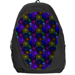Circles Color Yellow Purple Blu Pink Orange Backpack Bag by Alisyart