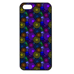 Circles Color Yellow Purple Blu Pink Orange Apple Iphone 5 Seamless Case (black) by Alisyart