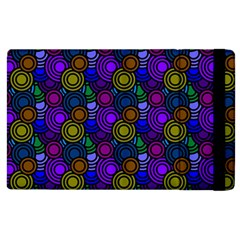 Circles Color Yellow Purple Blu Pink Orange Apple Ipad 2 Flip Case by Alisyart
