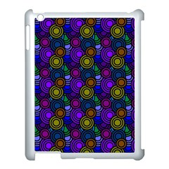 Circles Color Yellow Purple Blu Pink Orange Apple Ipad 3/4 Case (white)