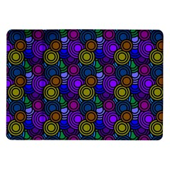 Circles Color Yellow Purple Blu Pink Orange Samsung Galaxy Tab 10 1  P7500 Flip Case by Alisyart