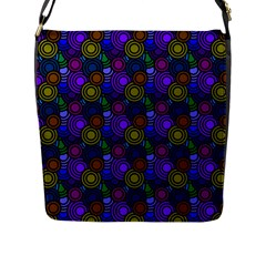 Circles Color Yellow Purple Blu Pink Orange Flap Messenger Bag (l)