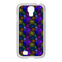 Circles Color Yellow Purple Blu Pink Orange Samsung Galaxy S4 I9500/ I9505 Case (white) by Alisyart