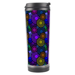 Circles Color Yellow Purple Blu Pink Orange Travel Tumbler by Alisyart