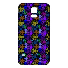 Circles Color Yellow Purple Blu Pink Orange Samsung Galaxy S5 Back Case (white) by Alisyart